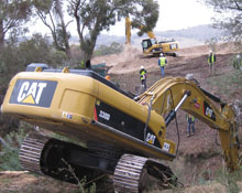Excavator-Clearing-vegetation